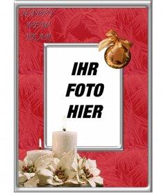 Online Rahmen für Fotos ein frohes neues Jahr