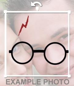 Aufkleber mit Harry Potter Brille und Narbe