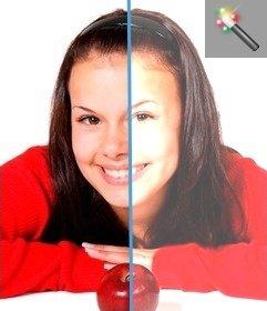 Online-Foto-Filter, um dunkle Bilder zu beleuchten.