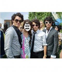 Seien Sie das Mädchen, das mit den Jonas Brothers ist durch die Bearbeitung dieser Effekt Online-