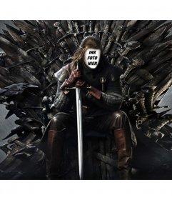 Foto-Montage von Ned Stark in den Eisernen Thron Ihr Gesicht hinzuzufügen. Setzen Sie