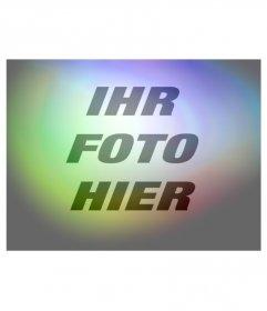 Filter Fotos leuchtet rot, blau und gelb lila