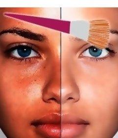 Virtuelle Online-Make-up-Effekt für Ihr Foto, das viel schöner verlassen wird. Laden Sie