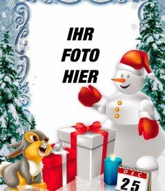 Fotomontage Weihnachtstag mit Fotos personalisieren