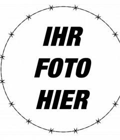 Rondell mit Widerhaken versehenen Zaun Ihre Fotos kostenlos