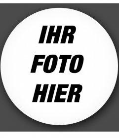 Shaped Kreis Rahmen, um Ihre Fotos mit einem Glaseffekt