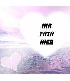 Foto-Effekt mit einer Glut der Liebe Ihr Foto Online-