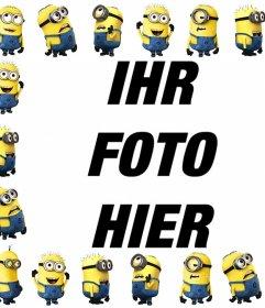 Free Bilderrahmen mit den Minions, um ein Foto