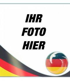 Fotorahmen mit der Flagge von Deutschland nach in Ihren Fotos setzen