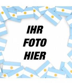 Setzen Sie Ihr Foto von Flaggen von Argentinien mit diesem Rahmen umgeben