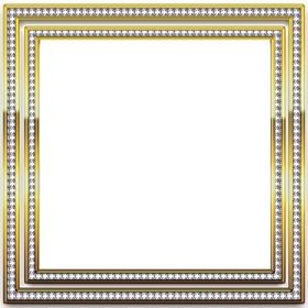 Bilderrahmen mit Gold und Silber Kanten