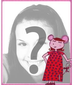 Presumed Ratte Bilderrahmen ein Bild von einem Kind in den Hintergrund