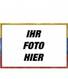 Bilderrahmen mit der Flagge von Venezuela mit einem Alter-verschlissener Grunge-Stil, mit dem Sie Ihre Bilder anpassen können