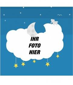 Fotorahmen auf einem Cloud-