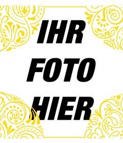 Fügen Sie einen Goldrahmen von Tribal Style auf Ihre Fotos kostenlos