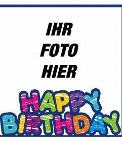 Bunte Rahmen alles Gute zum Geburtstag zu wünschen und mit Ihrem Foto