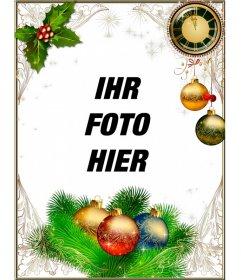 Rahmen, um Ihre Fotos Weihnachten und Neujahr zu schmücken