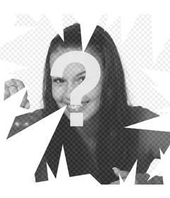 Original-Effekt Stücke aus Glas Online Fotomontage um Ihre Fotos