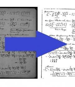 Effekt zu optimieren gescannten Noten verbessert Kontrast und Lesbarkeit