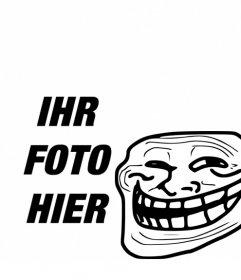 Fotomontage zu Meme Troll Face mit Ihrem Foto setzen