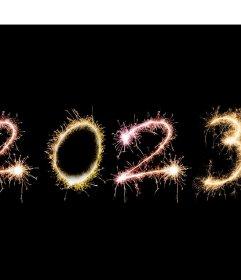 Effekt, um Ihr Foto in die Null des Jahres 2019 von Feuerwerk zu setzen