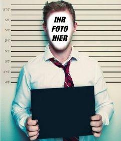 Montage Ihr Gesicht zu setzen und wie ein Verbrecher aussehen mit einem Plakat
