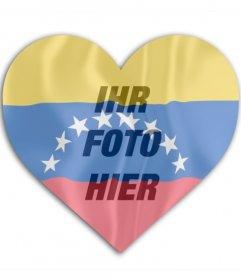 Fotomontage Venezuela herzförmige Flagge auf deinem Profilbild setzen