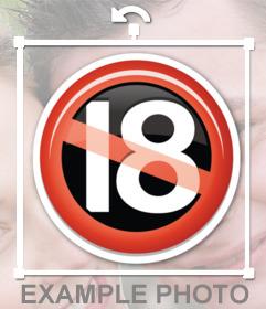 Sticker Signal nicht unter 18 erlaubt, in Ihre Fotos einfügen