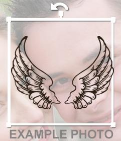Tattoo Aufkleber Mit Engelsflügeln Auf Ihre Fotos Einfügen