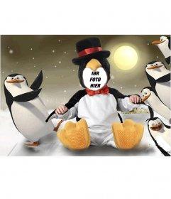 Virtuelle Pinguin-Kostüm für Kinder, die Sie kostenlos