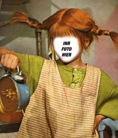 Jetzt können Sie Pippi Langstrumpf mit diesem lustigen und editierbare Effekt