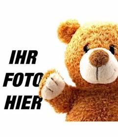 Fotomontage für Kinder mit einem Teddybären zu Ihren Fotos hinzufügen