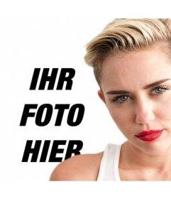 Legen Sie Ihr Foto zusammen mit Miley Cyrus mit dieser Montage können Sie online tun können