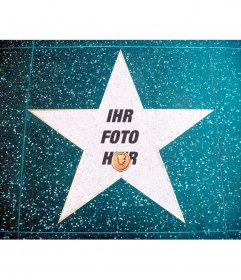 Fotomontage in der Walk of Fame