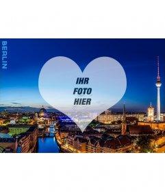 Postkarte mit einem Bild von Berlin