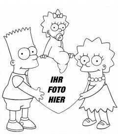 Fotomontage zu Färbung der Simpsons, wo Sie Ihr Foto