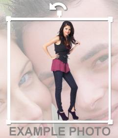 Setzen Sie in Ihrem Foto Selena Gomez mit diesem Online-Fotomontage des berühmten Sängers