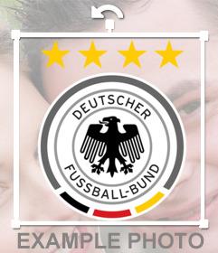 Kostenlose Foto-Effekt mit dem Logo der deutschen Auswahl