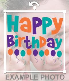 Sticker von alles Gute zum Geburtstag auf Ihre Fotos