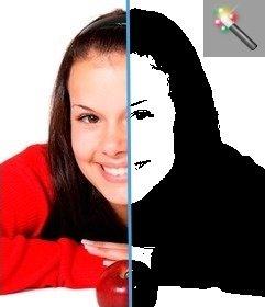 Filter für Fotos schwarz und weiß wie Che Guevara-Stil