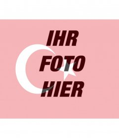 Montieren Sie die Flagge der Türkei auf Ihr Foto setzen als Profilbild verwenden