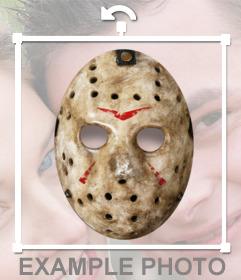 Aufkleber von Jasons Maske für Ihr Foto