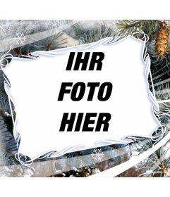 Fotorahmen mit Wintermotive und Weihnachten
