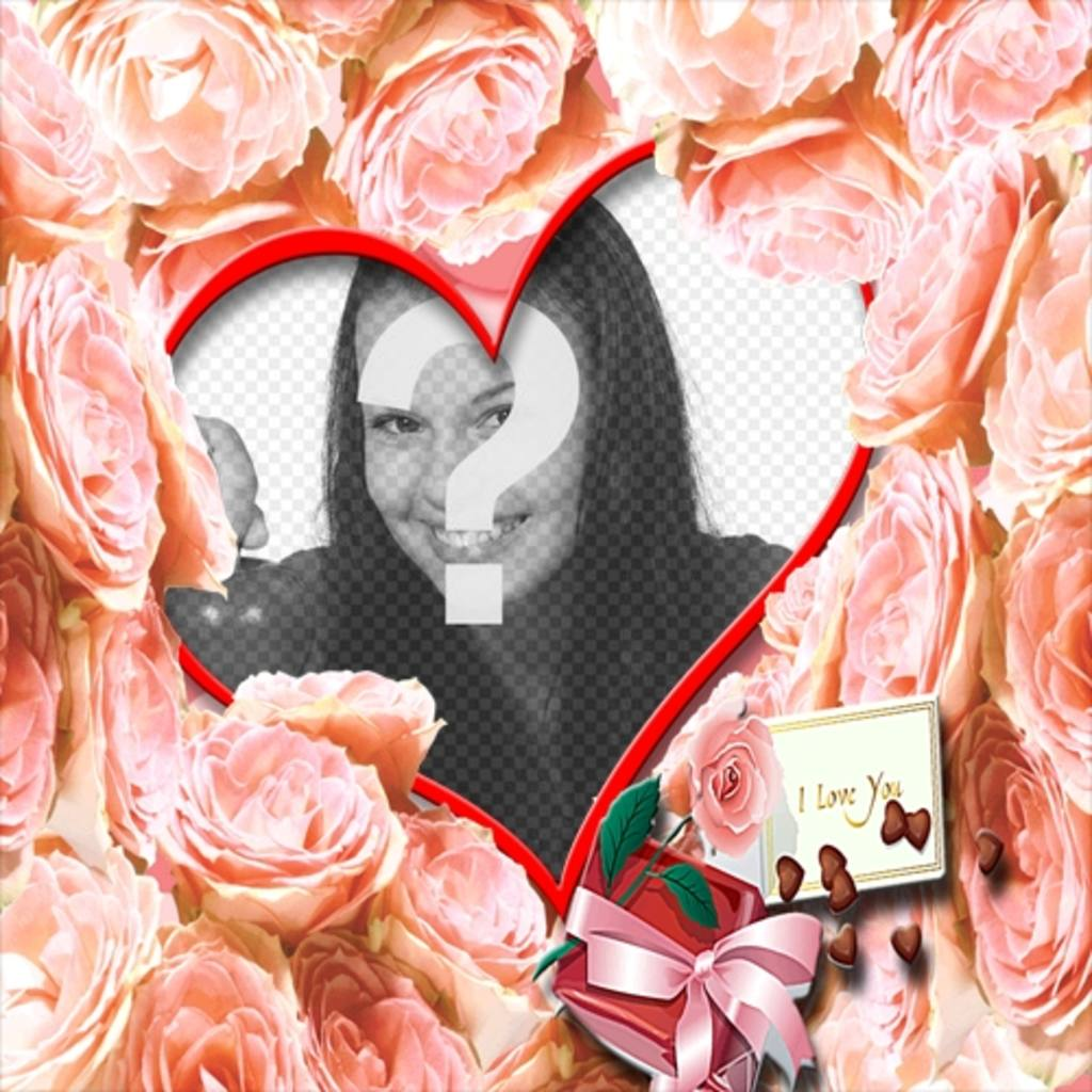 """Herz-förmigen Rahmen von orangen Rosen für die Liebe umgeben. Ein """"Ich liebe dich"""" ideal für Valentinstag"""