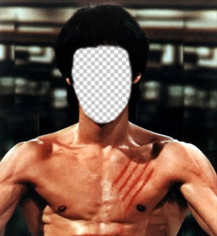 Setzen Sie Ihr Gesicht auf den Körper von Bruce Lee mit diesem Online-Fotomontage