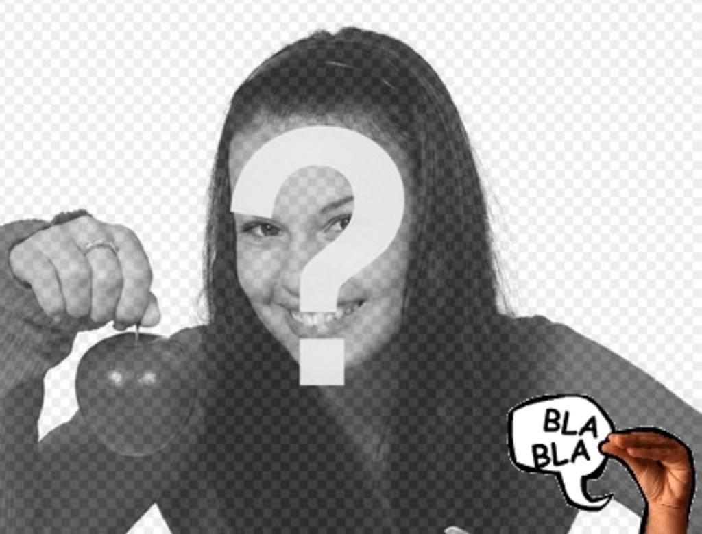 Animierte Fotomontage für ein digitales Foto, reden über eine Hand an Ihrem Bild. Fügen Sie diesen Effekt, um Ihre Fotos kostenlos und einfach, oder wählen Sie aus anderen Produktionen dieser Web angeboten