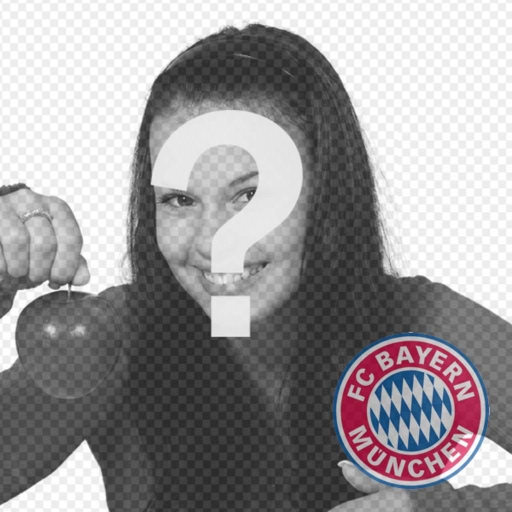 Fotomontage des FC Bayern München Logo auf Ihrem Foto