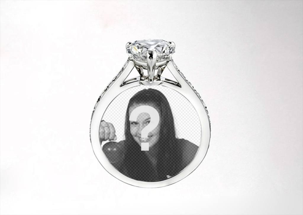 Legen Sie ein Bild von Ihrem Mädchen oder Junge in einer Cartier Diamant-Ring, romantische Fotomontage
