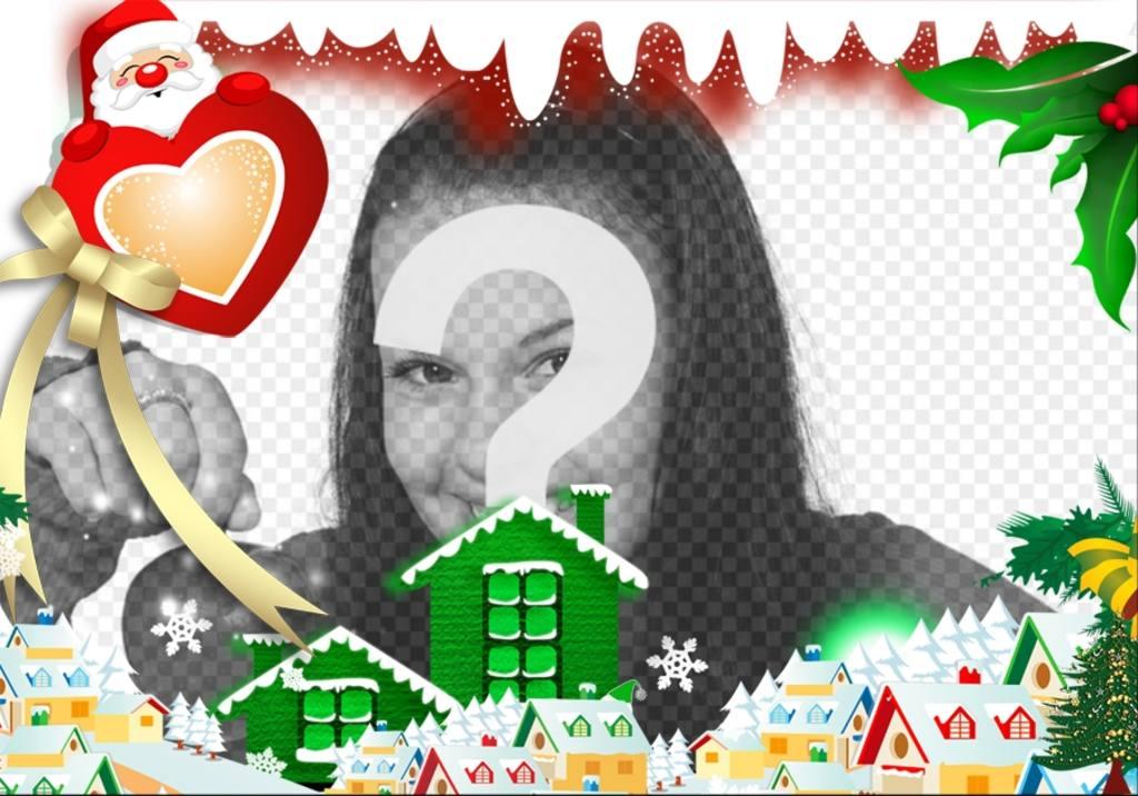 Bilder Online Bearbeiten Weihnachten.Umgeben Sie Ihr Bild Mit Einem Weihnachtsdorf Bearbeitung