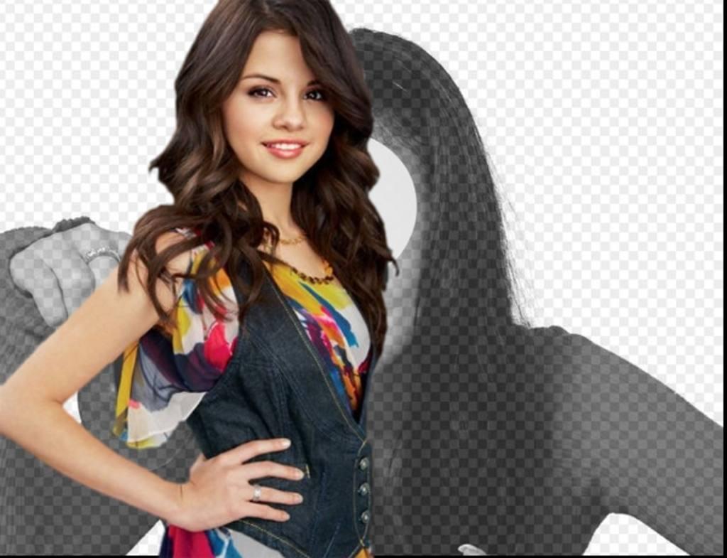 Photo-Effekt mit Selena gomez Hochladen Ihrer Bilder sein